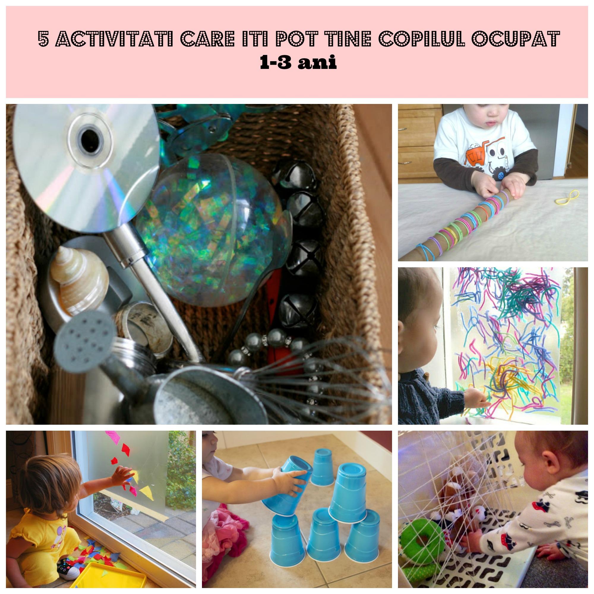 5 activitati care iti pot tine copilul ocupat 1-3